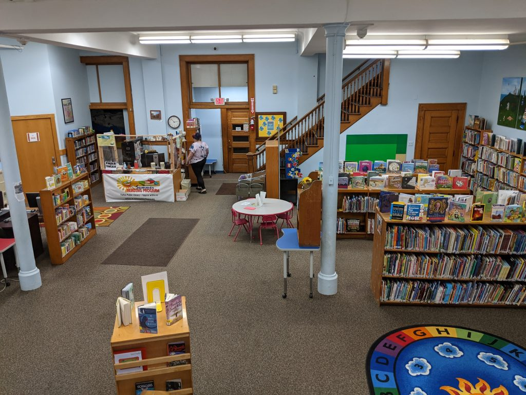 Photo of the downstairs of the Fulton Public Library